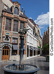 Street in center of Brussels, Belgium - Street in center of...