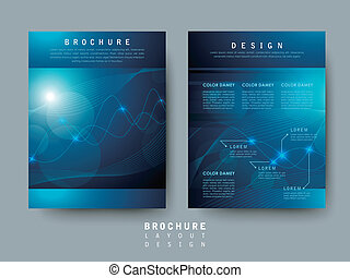 hi-tech style flyer template for business advertising...