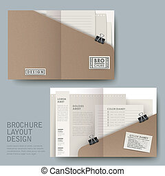modern half-fold template for business advertising in open...