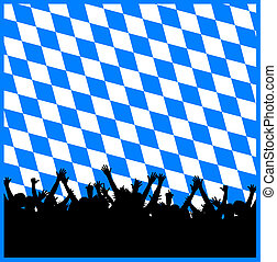 oktoberfest background - illustration of a oktoberfest...