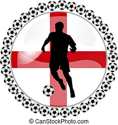 soccer button england - illustration of a soccer button...