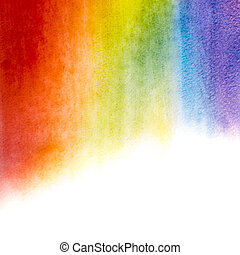 Watercolor rainbow background - Painted watercolor rainbow...