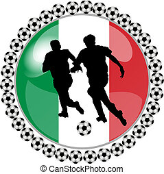 soccer button italy - illustration of a soccer button italy