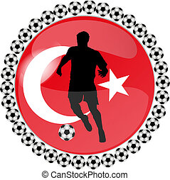 soccer button turkey - illustration of a soccer button...