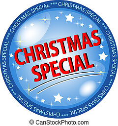 christmas special button - illustration of a christmas...