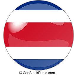 button costa rica - illustration of a button costa rica