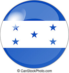 button with flag honduras - illustration of a button with...