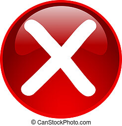 red access denied button - illustration of a red access...