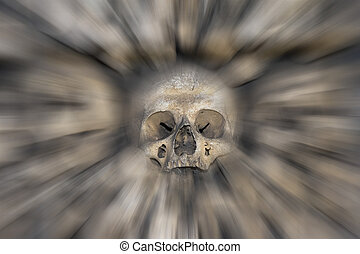 skull - fear and trembling - Abstract image of the human...