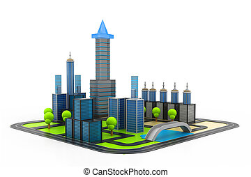 modern project of buildings