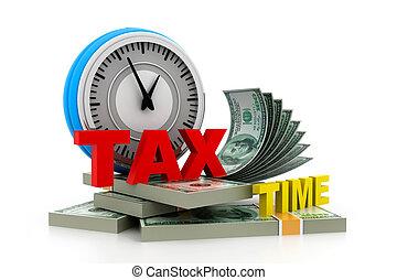 お金, 税, 時間