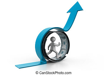 Financial growth concept.(business success)