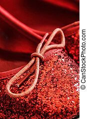 Red Shiny Sparkly Shoes - Red Shiny sparkly shoes, similar...