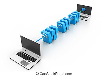 World wide web internet concept