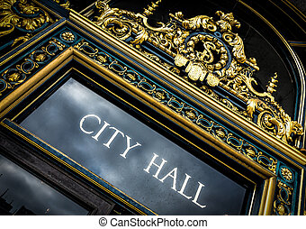 City Hall Sign - San Francisco City Hall Sign