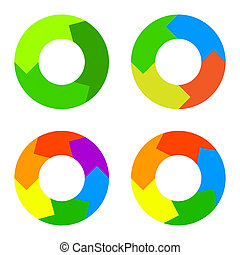 Circle Diagram for Infographics. Vector. - Circle Color...