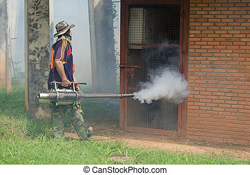 Fumigate mosquito-killing to prevent disease