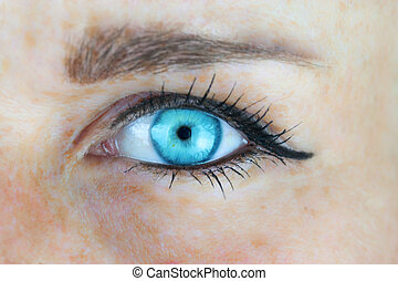 Blue woman eye