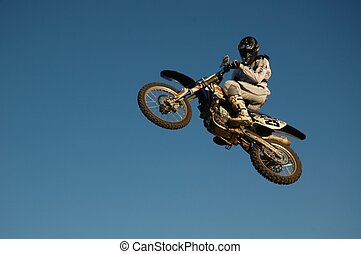 jump - motocross free ride and free style jump