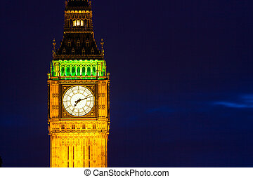 Big Ben at night - Night view of Big Ben in London, UK