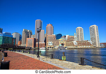 Boston Harbor Waterfront - Boston Harbor and Financial...