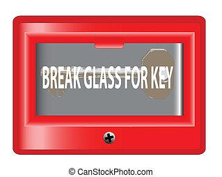 Break Glass For Key - A break glass for key emergency box...