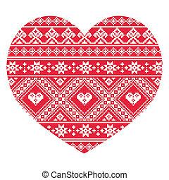 Traditional Ukrainian red folk art