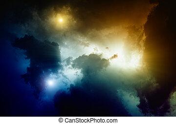 Light in sky