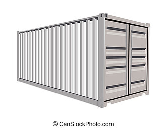 Container - White container on white background