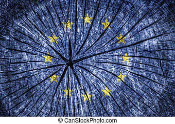 flag of European Union - flag of the European Union on...