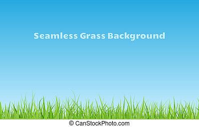 Seamless grass background - Horizontal seamless green grass...
