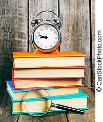 alarma, Libros, reloj
