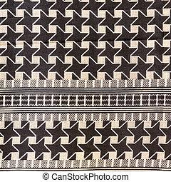 Oriental, bedouin like background. Arab keffiyah pattern