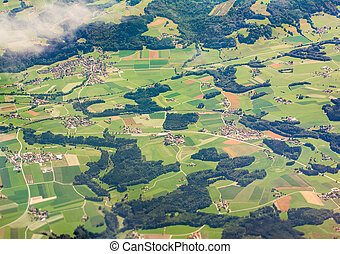 Aerial view of Bavaria, Germany