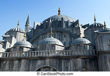 Blue Mosque - The Blue Mosque Exterior in Istanbul Turkey