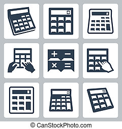 Calculators vector icons set