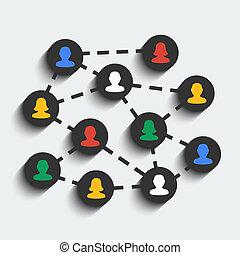 Social network vector concept. EPS 10