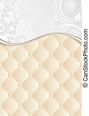floral background with quilted pattern
