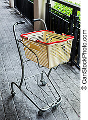 shopping grocery cart - Shopping at the grocery store.