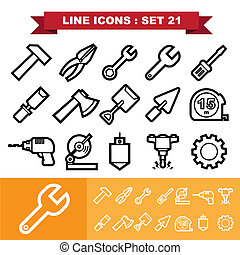 Line icons set 21 Illustration eps 10