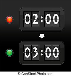 Daylight saving time digital dial c - Put the clock forward...