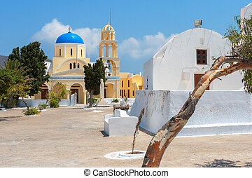 Orthodox church. Oia, Santorini, Greece