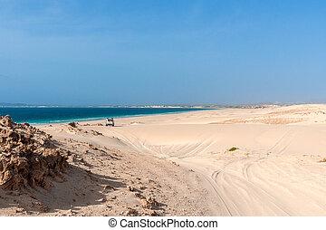 Jeeptour in the dunes of Morro d?Areia, Boavista, Kapverden...