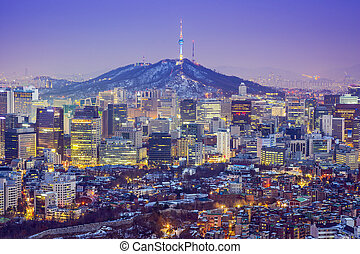 Seoul, South Korea Skyline - Seou, South Korea city skyline...