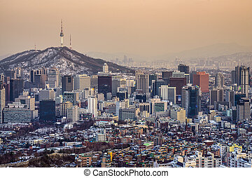 Seoul, South Korea Skyline - Seoul, South Korea City...