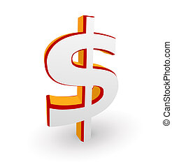 Dollar symbol - illustration of Dollar symbol isolated on a...