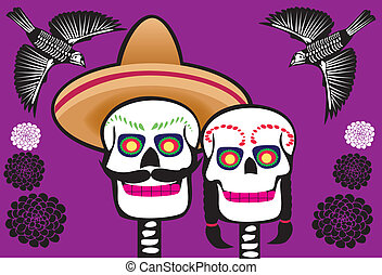 mexican skull - Is a EPS Illustrator file