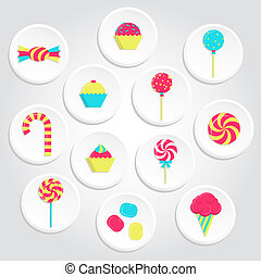 Colorful candy icons