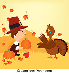 thanksgiving day and pioneers 3 - Is a EPS Illustrator file...