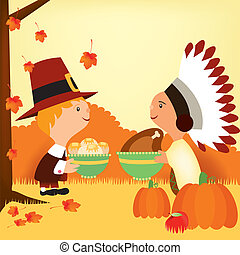 thanksgiving day and pioneers 2 - Is a EPS Illustrator file...